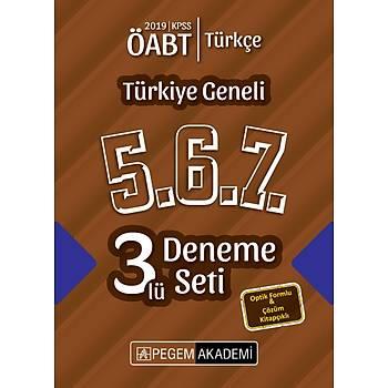 Pegem 2019 ÖABT Türkçe Öðretmenliði Türkiye Geneli 3 Deneme (5.6.7) Pegem Akademi Yayýnlarý
