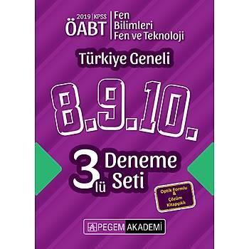 Pegem 2019 ÖABT Fen Bilimleri / Fen ve Teknoloji Öðretmenliði Türkiye Geneli 3 Deneme (8.9.10) Pegem Akademi Yayýnlarý