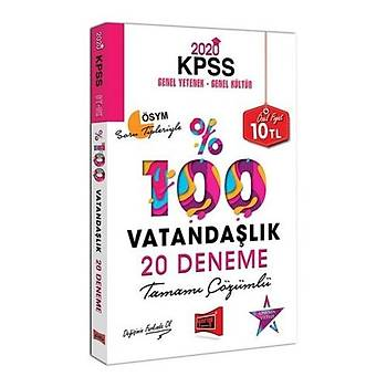 KPSS Vatandaþlýk Tamamý Çözümlü 20 Deneme Yargý Yayýnlarý 2020