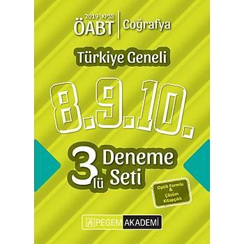 Pegem 2019 ÖABT Coðrafya Öðretmenliði Türkiye Geneli 3 Deneme (8.9.10) Pegem Akademi Yayýnlarý