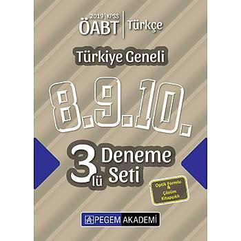 Pegem 2019 ÖABT Türkçe Öðretmenliði Türkiye Geneli 3 Deneme (8.9.10) Pegem Akademi Yayýnlarý