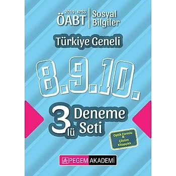 Pegem 2019 ÖABT Sosyal Bilgiler Öðretmenliði Türkiye Geneli 3 Deneme (8.9.10) Pegem Akademi Yayýnlarý