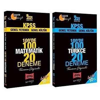Yargý 2021 KPSS Matematik + Türkçe 100 de 100 40 Deneme Çözümlü 2 li Set Yargý Yayýnlarý