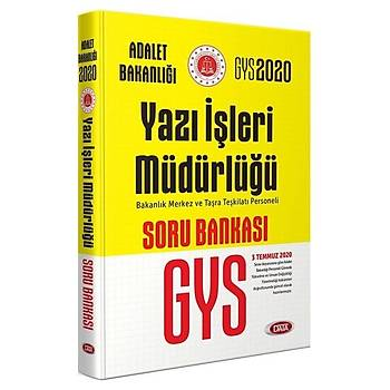 Data 2020 GYS Adalet Bakanlýðý Yazý Ýþleri Müdürlüðü Soru Bankasý Görevde Yükselme (Sarý Kitap) Data Yayýnlarý