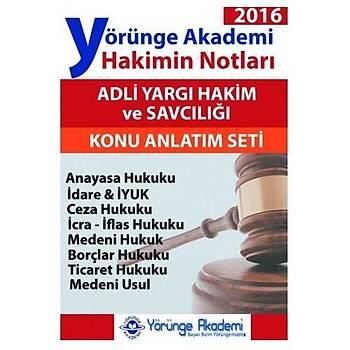 Yörünge Akademi Yayýnlarý Adli Yargý Hakimin Notlarý Modüler Set  2016