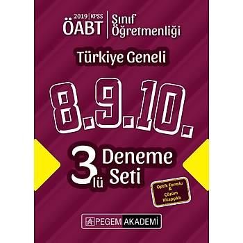 Pegem 2019 ÖABT Sýnýf Öðretmenliði Türkiye Geneli 3 Deneme (8.9.10) Pegem Akademi Yayýnlarý