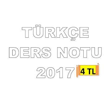 AKFON KPSS TÜRKÇE DERS NOTU 2017