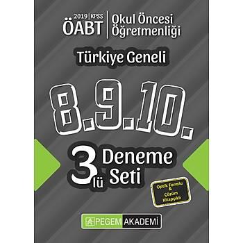 Pegem 2019 ÖABT Okul Öncesi Öðretmenliði Türkiye Geneli 3 Deneme (8.9.10) Pegem Akademi Yayýnlarý