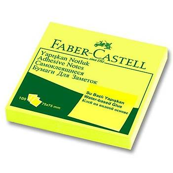 FABER CASTELL YAPIÞKAN NOTLUK 75X75MM POST-IT ( FOSFORLU SARI)