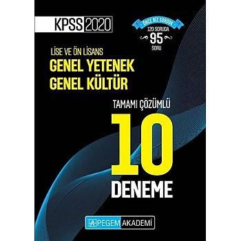 Pegem Yayýnlarý 2020 KPSS Genel Kültür Genel Yetenek Tamamý Çözümlü 10 Deneme