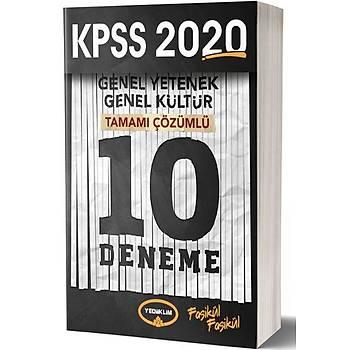 KPSS GK-GY Tamamý Çözümlü 10 Deneme Sýnavý Yediiklim Yayýnlarý 2020