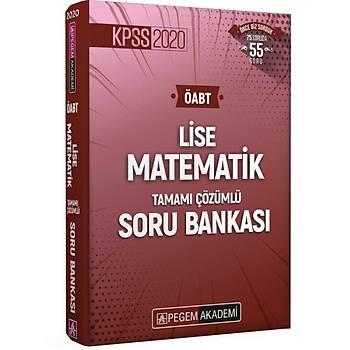 Pegem 2020 KPSS ÖABT Lise Matematik Tamamý Çözümlü Soru Bankasý