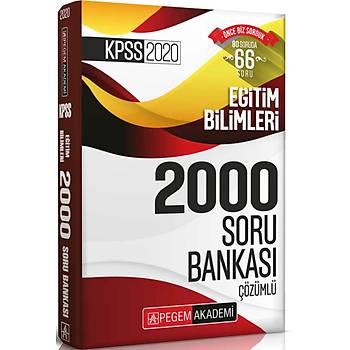 Pegem 2020 KPSS Eðitim Bilimleri Çözümlü Efsane 2000 Soru Bankasý