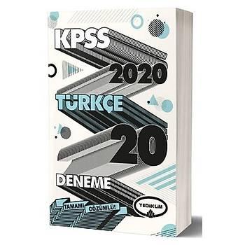 KPSS Genel Yetenek Türkçe Tamamý Çözümlü 20 Deneme Sýnavý Yediiklim Yayýnlarý 2020