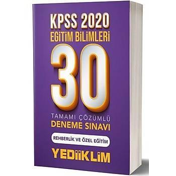 KPSS Eðitim Bilimleri Rehberlik ve Özel Eðitim 30 Deneme Yediiklim Yayýnlarý 2020