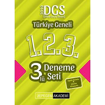 Pegem 2019 DGS Türkiye Geneli 3 Deneme (1.2.3) Pegem Akademi Yayýnlarý