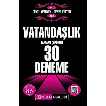 PEGEM AKADEM KPSS VATANDAÞLIK 30 DENEME 2019