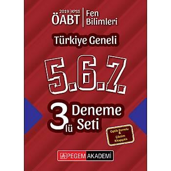 Pegem 2019 ÖABT Fen Bilimleri-Fen ve Teknoloji Türkiye Geneli 3 Deneme (5.6.7) Pegem Akademi Yayýnlarý