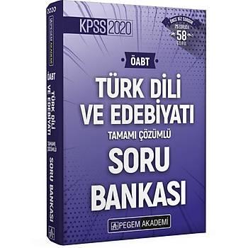 Pegem 2020 KPSS ÖABT Türk Dili ve Edebiyatý Tamamý Çözümlü Soru Bankasý
