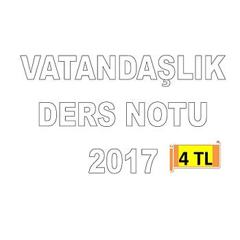 AKFON KPSS VATANDAÞLIK DERS NOTU 2017