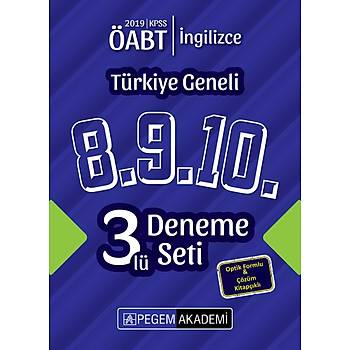 Pegem 2019 ÖABT Ýngilizce Öðretmenliði Türkiye Geneli 3 Deneme (8.9.10) Pegem Akademi Yayýnlarý