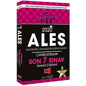 Yargý Yayýnlarý 2020 ALES VIP Tamamý Çözümlü Son 7 Sýnav Çýkmýþ Sorular