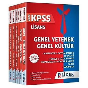 Lider 2020 KPSS Genel Yetenek Genel Kültür Konu Anlatýmlý Modüler Set Lider Yayýnlarý
