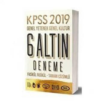 Benim Hocam Yayýnlarý 2019 KPSS Genel Yetenek Genel Kültür Tamamý Çözümlü 6 Altýn Deneme