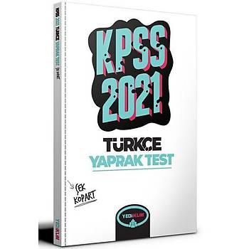 Yediiklim Yayýnlarý 2021 KPSS Genel Yetenek Türkçe Çek Kopart Yaprak Test
