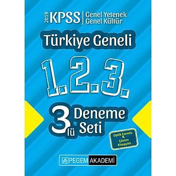 2019 KPSS Genel Yetenek Genel Kültür Türkiye Geneli Deneme (1.2.3) 3`lü Deneme Seti