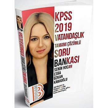 2019 KPSS Vatandaþlýk Tamamý Çözümlü Soru Bankasý Benim Hocam Yayýnlarý