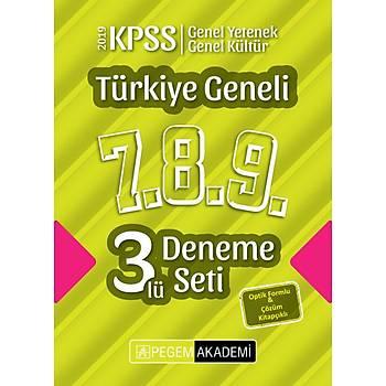 2019 KPSS Genel Yetenek Genel Kültür Türkiye Geneli Deneme (7.8.9) 3`lü Deneme Seti