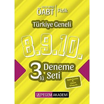 Pegem 2019 ÖABT Fizik Öðretmenliði Türkiye Geneli 3 Deneme (8.9.10) Pegem Akademi Yayýnlarý