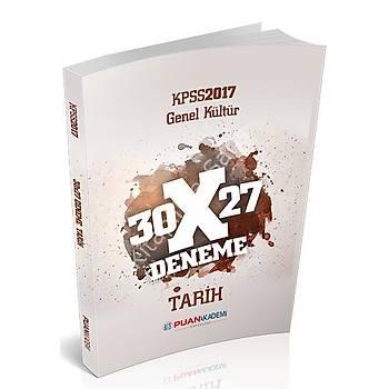 PUAN AKADEMÝ YAYINLARI 2017 KPSS GENEL KÜLTÜR TARÝH 30X27 DENEME