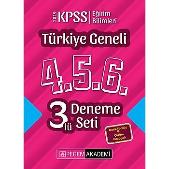 2019 KPSS Eðitim Bilimleri Türkiye Geneli Deneme (4.5.6) 3`lü Deneme Seti