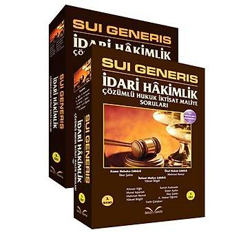 Sui Generis Ýdari Hakimlik Çözümlü Hukuk Ýktisat Maliye Sorularý Nisan 2015