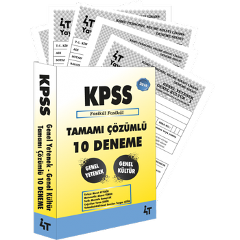 KPSS B Grubu 10 Deneme Tamamý Çözümlü Yüksel Bilgili 4T Yayýnlarý 2019
