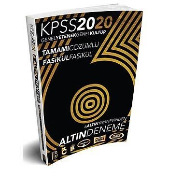 Benim Hocam Yayýnlarý 2020 KPSS Genel Yetenek Genel Kültür 6 ALTIN Çözümlü Fasikül Deneme