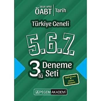 Pegem 2019 ÖABT Tarih Öðretmenliði Türkiye Geneli 3 Deneme (5.6.7) Pegem Akademi Yayýnlarý
