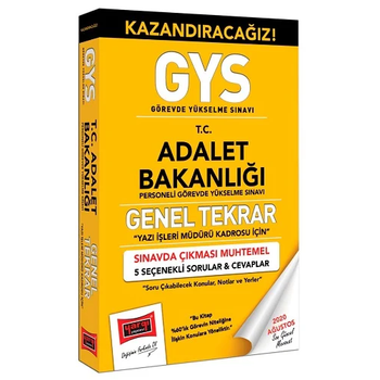 Yargý 2020 GYS Adalet Bakanlýðý Yazý Ýþleri Müdürü Kadrosu Genel Tekrar Kitabý Görevde Yükselme Yargý Yayýnlarý