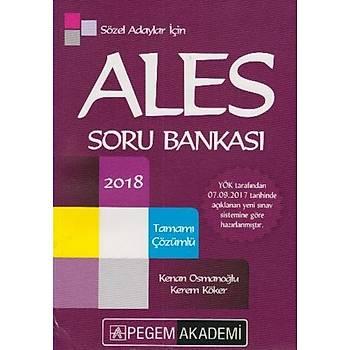 2018 ALES Sözel Adaylar için Tamamý Çözümlü Soru Bankasý Pegem Yayýnlarý