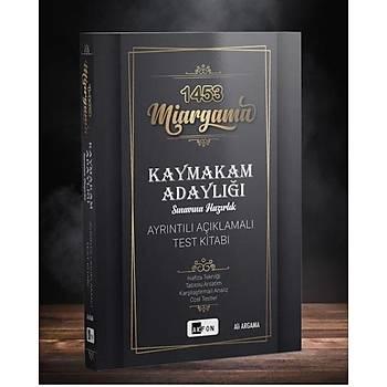 MÝARGAMA Kaymakam Adaylýðý Sýnavýna Hazýrlýk Ayrýntýlý Açýklamalý Test Kitabý Haziran 2020 Ali Argama