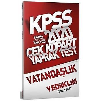 KPSS Vatandaþlýk Çek Kopart Yaprak Test Yediiklim Yayýnlarý 2020