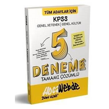 Hocawebde Yayýnlarý 2020 KPSS Genel Yetenek Genel Kültür Tamamý Çözümlü 5 Deneme