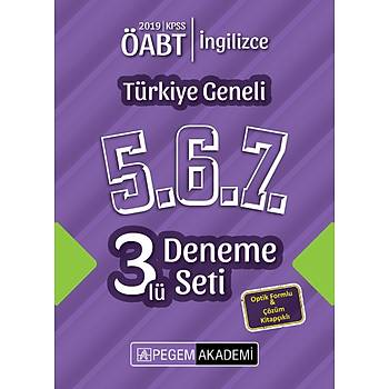 Pegem 2019 ÖABT Ýngilizce Öðretmenliði Türkiye Geneli 3 Deneme (5.6.7) Pegem Akademi Yayýnlarý