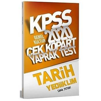 KPSS Tarih Çek Kopart Yaprak Test Yediiklim Yayýnlarý 2020