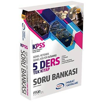 Murat Yayýnlarý KPSS 5 Ders Soru Bankasý Tek Kitap Genel Yetenek Genel Kültür 2018