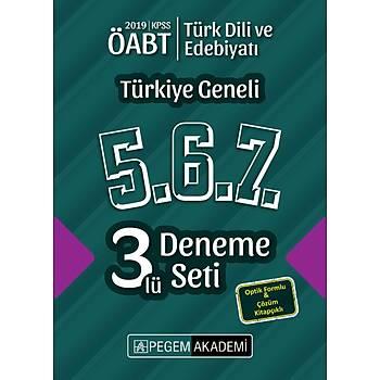 Pegem 2019 ÖABT Türk Dili ve Edebiyatý Öðretmenliði Türkiye Geneli 3 Deneme (5.6.7) Pegem Akademi Yayýnlarý