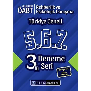 Pegem 2019 ÖABT Rehberlik ve Psikolojik Danýþma Türkiye Geneli 3 Deneme (5.6.7) Pegem Akademi Yayýnlarý
