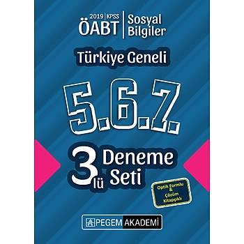 Pegem 2019 ÖABT Sosyal Bilgiler Öðretmenliði Türkiye Geneli 3 Deneme (5.6.7) Pegem Akademi Yayýnlarý
